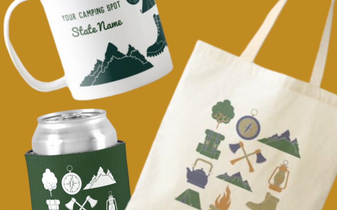 Create Your Own Custom Camping Trip Souvenirs