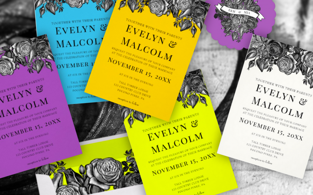 Stand Out with Brightly Colored But Elegant Wedding Invitations and Party Supplies