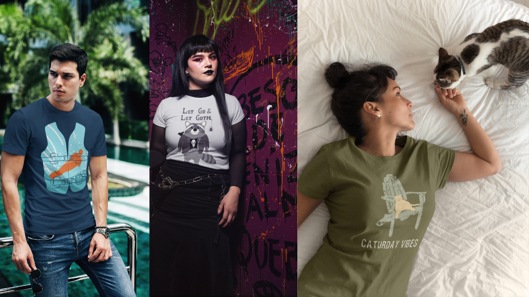 Goth Raccoons, Lazy Cats, and More This Week on Threadless